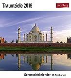 Traumziele  - Kalender 2019: Sehnsuchtskalender, 53 Postkarten