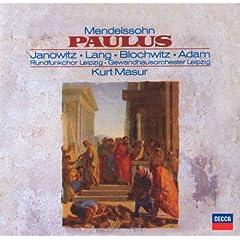 クルト・マズア指揮/ライプツィヒ・ゲヴァントハウス メンデルスゾーン:オラトリオ《パウロ》Op.36の商品写真