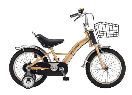 CADILLAC(キャデラック) KID'S16-R4 ゴールド 16インチ(極太タイヤ搭載) 幼児/子供用自転車 ダブルクラウンフォーク ライダーサドル 泥除け/チェーンケース/ワイヤーバスケット標準装備 15304-8099 AMZ