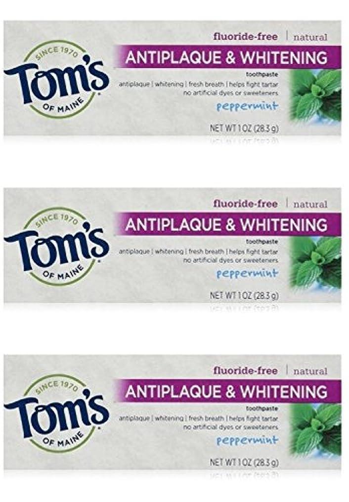 コーチクリープ別にTom's of Maine Natural Antiplaque Tartar Control & Whitening Toothpaste Peppermint 1 oz Travel Size by Tom's of Maine