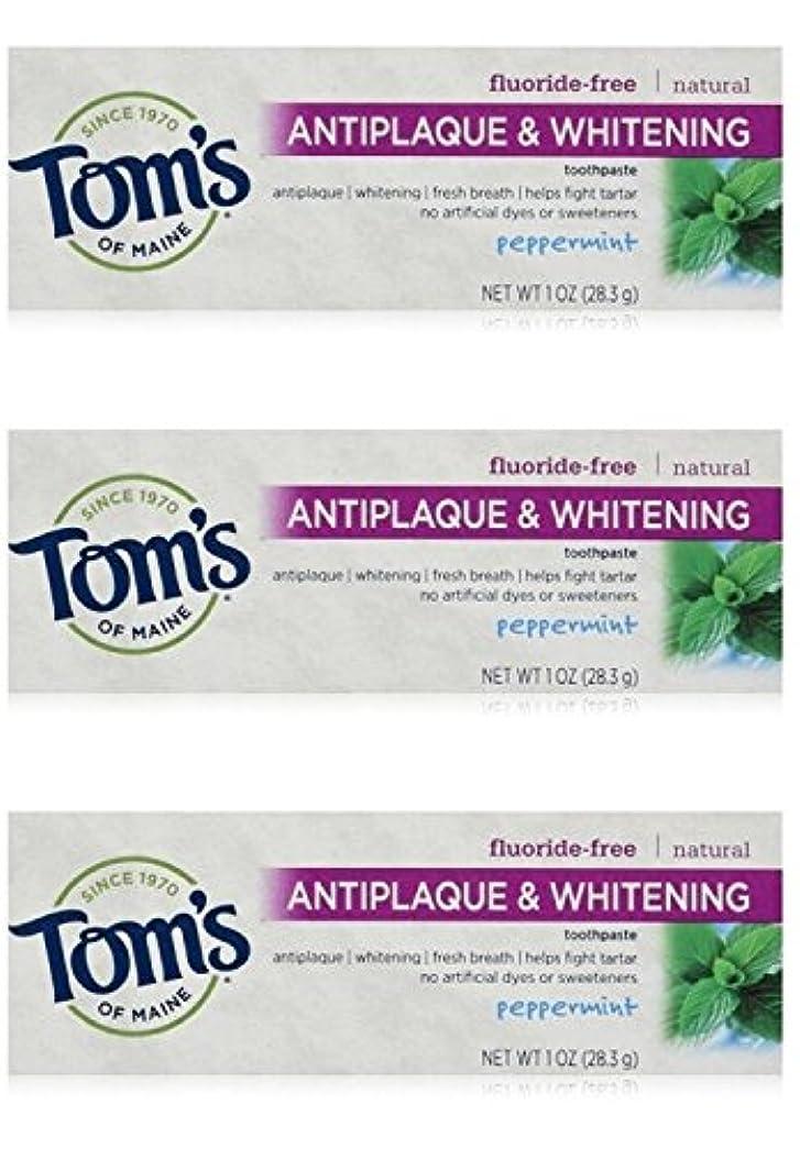 惨めないま貴重なTom's of Maine Natural Antiplaque Tartar Control & Whitening Toothpaste Peppermint 1 oz Travel Size by Tom's of...