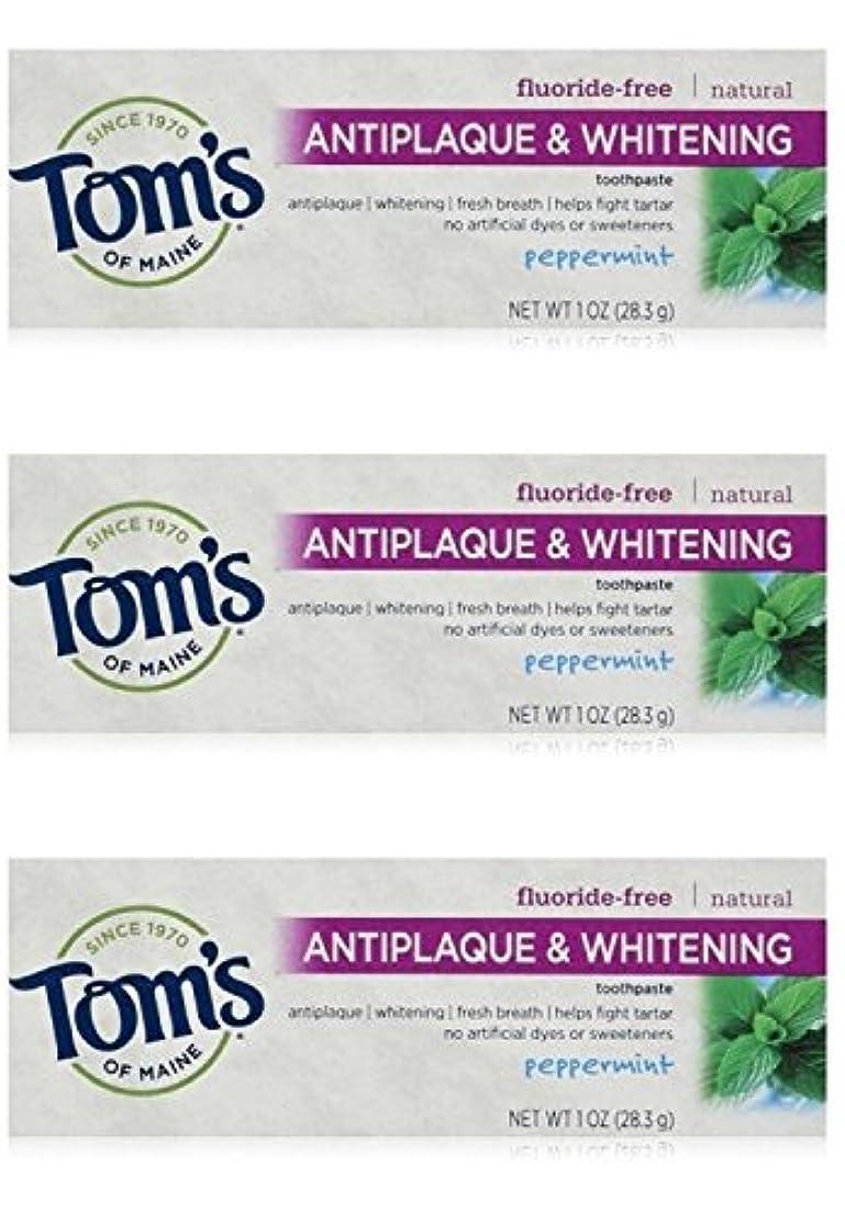 ギャザー回転するくしゃみTom's of Maine Natural Antiplaque Tartar Control & Whitening Toothpaste Peppermint 1 oz Travel Size by Tom's of...