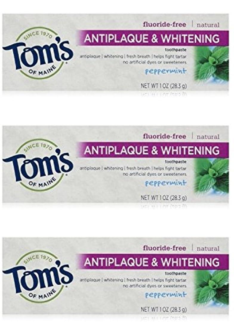 開拓者検閲団結Tom's of Maine Natural Antiplaque Tartar Control & Whitening Toothpaste Peppermint 1 oz Travel Size by Tom's of...