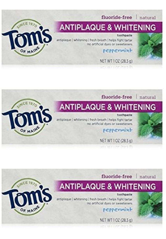 病的コインランドリー通知Tom's of Maine Natural Antiplaque Tartar Control & Whitening Toothpaste Peppermint 1 oz Travel Size by Tom's of...
