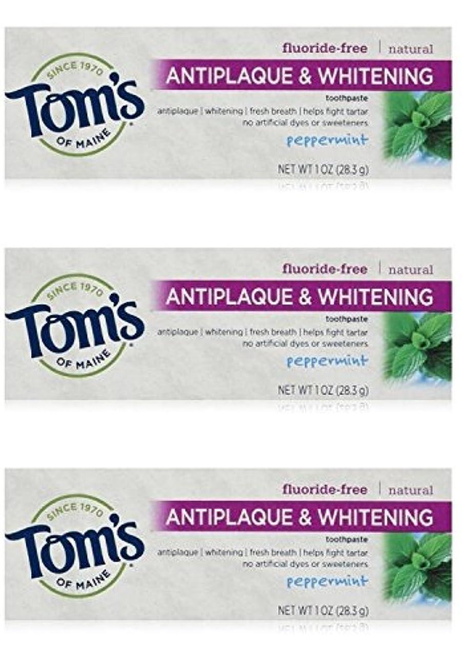 温帯やる祭司Tom's of Maine Natural Antiplaque Tartar Control & Whitening Toothpaste Peppermint 1 oz Travel Size by Tom's of...