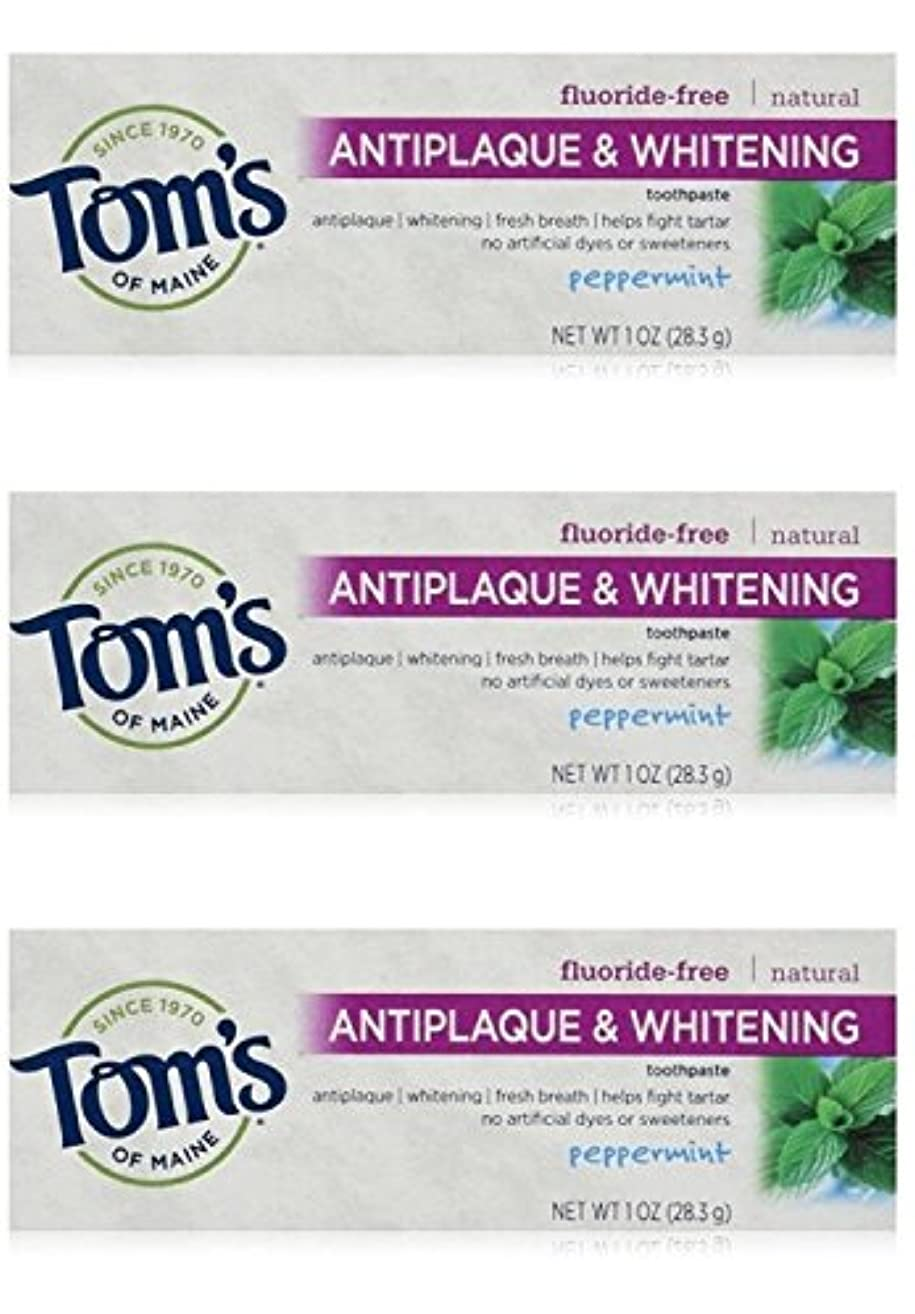 そっとベーリング海峡荒れ地Tom's of Maine Natural Antiplaque Tartar Control & Whitening Toothpaste Peppermint 1 oz Travel Size by Tom's of...