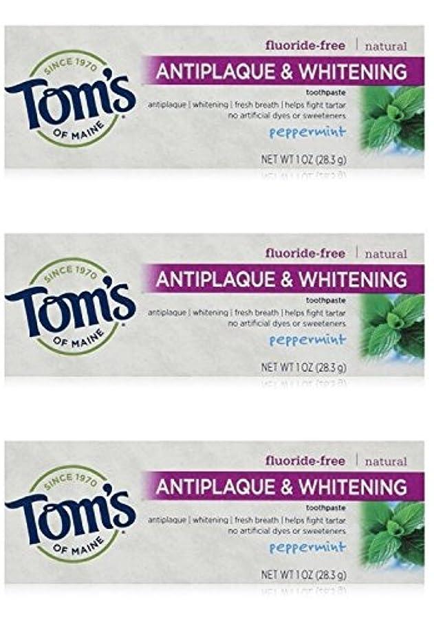 弁護人サーバ逮捕Tom's of Maine Natural Antiplaque Tartar Control & Whitening Toothpaste Peppermint 1 oz Travel Size by Tom's of...