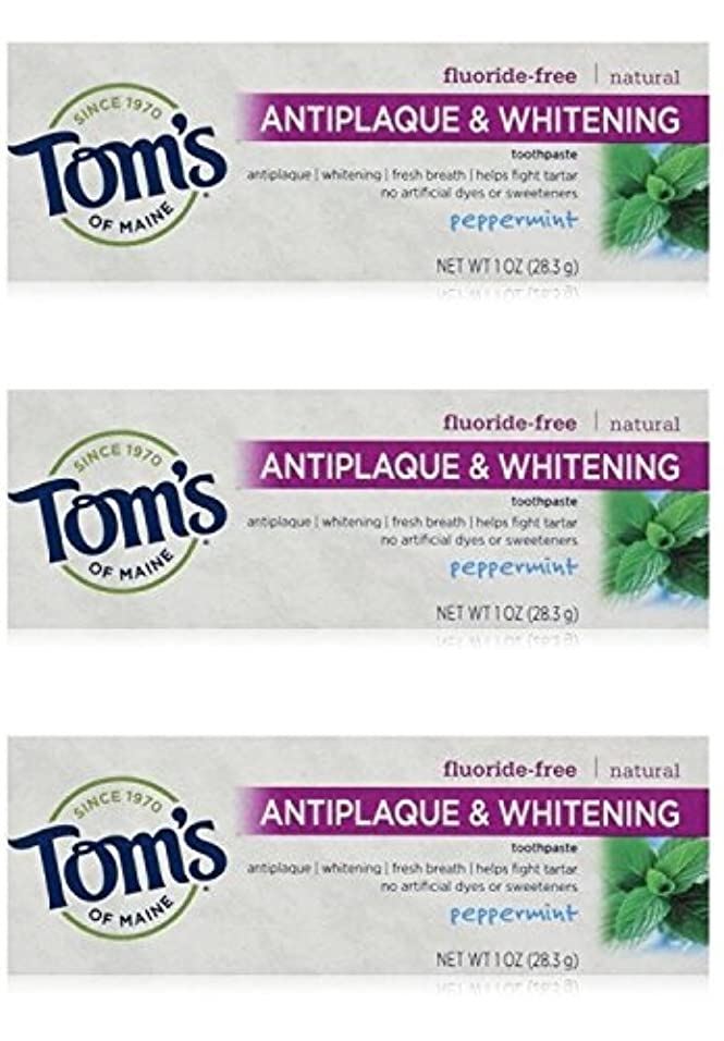 Tom's of Maine Natural Antiplaque Tartar Control & Whitening Toothpaste Peppermint 1 oz Travel Size by Tom's of...