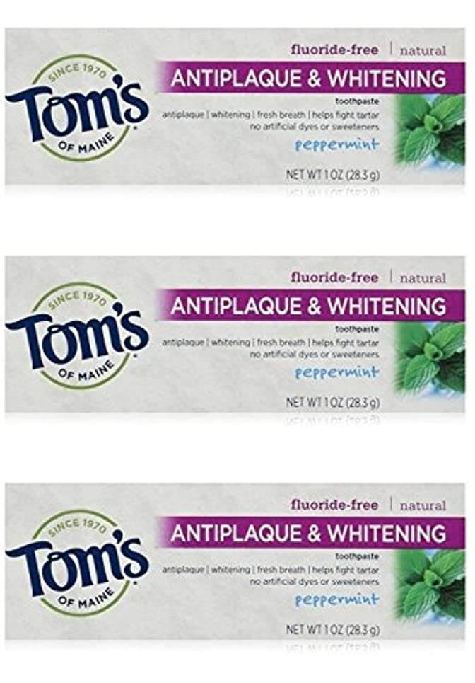 焦がす忘れる継承Tom's of Maine Natural Antiplaque Tartar Control & Whitening Toothpaste Peppermint 1 oz Travel Size by Tom's of...