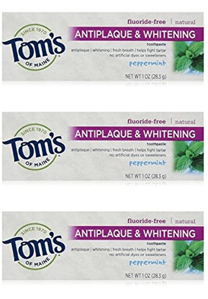 ポット大砲中世のTom's of Maine Natural Antiplaque Tartar Control & Whitening Toothpaste Peppermint 1 oz Travel Size by Tom's of...