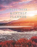 2020-2022 Monthly Planner: Inspirational Three Year Monthly Organizer & Planner with 36 Months Spread View Calendar - 3 Year Monthly Schedule Agenda & Business Notebook - Awesome Alpine Highlands On Sunny Day