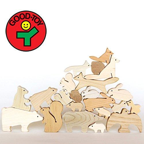 [Oak Village(オークヴィレッジ)]森のどうぶつみき(積み木)[キッズ遊具][グッド・トイ2013林野庁長官賞受賞][無垢材・無塗装]