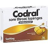 CODRAL CODRAL Sore Throat Lozenges Honey & Lemon 16, 0.05 kilograms