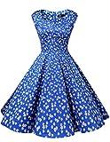 Dresstell(ドレステル) ヴィンテージスタイル スイングドレス レディーズ XXL ロイヤルブルーフラワー