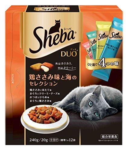 シーバ (Sheba) デュオ 鶏ささみ味と海のセレクション 240g