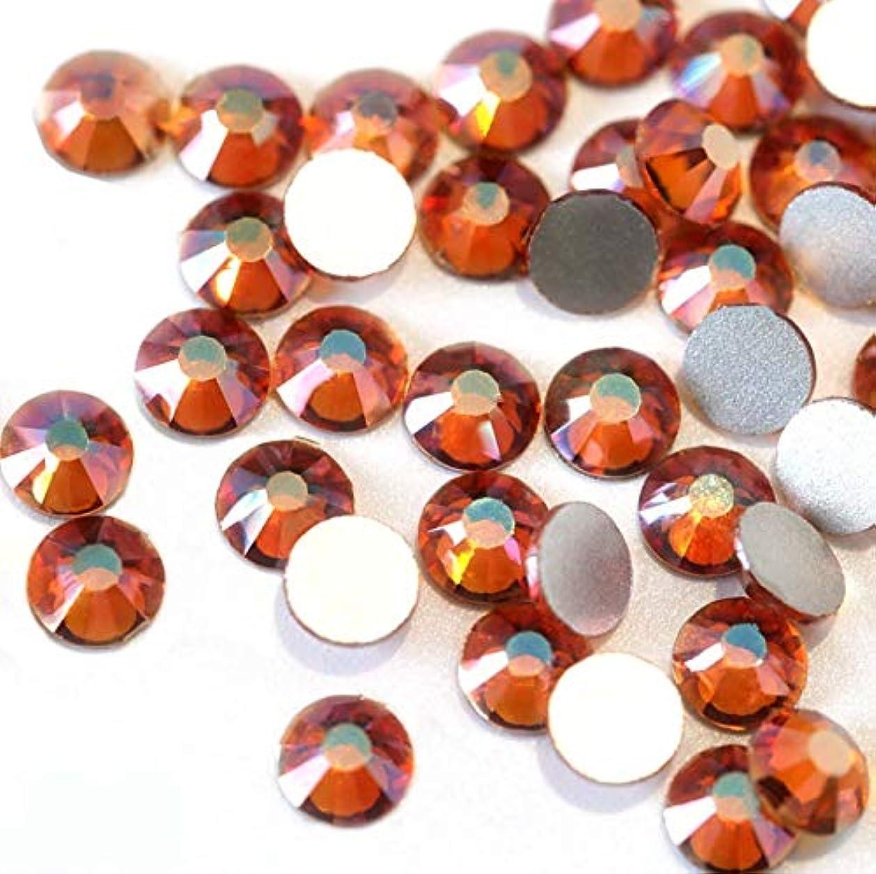【ラインストーン77】高品質ガラス製ラインストーン 色/サイズ選択可 SS3~SS50 スワロフスキー同等 (サンセット, SS3:約1.3mm(約200粒))