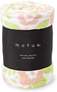mofua(モフア) 毛布 キング ふんわりあったか 静電気防止加工 マイクロファイバー 1年間品質保証 洗える220×200cm 花柄 ピンク 500005S4