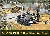 ドラゴン 1/35 第二次世界大戦 ドイツ軍 7.5cm 対戦車砲 Pak40 with 砲兵 プラモデル DR6249