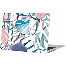 MacBook Air 11 Inch Case, Funut Matte Rubber Coated Soft Touch Plastic Hard Case Shell Fashion Style for MacBook Air 11.6 Inch (Models: A1370 A1465) - Two Sorts of Colorful Leaves