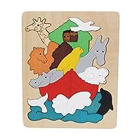 Votabell 木製 パズル 動物 多層立体パズル 子供 はめこみ 形合わせ おもちゃ 幼児 (アフリカ世界)