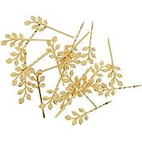 Perfk 全4色 素晴らしい 葉のデザイン ボビーピン ヘアグリップ 髪留め 飾り紐 クリップ 20個