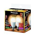 パナソニック LED電球 口金直径17mm プレミア 電球40W形相当 電球色相当(4.4W) 小型電球・全方向タイプ 2個入 密閉形器具対応 LDA4LGE17Z40ESW2T
