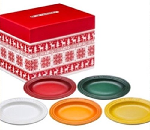 LECREUSETルクルーゼクリスマスミニオーバルプレート5枚セットル・クルーゼ