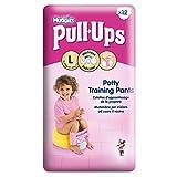 Huggies Pull-Ups Potty Training Pants for Girls Size 6 Large 16-23kg (12 per pack) 女の子サイズ6大16~23キロのためのハギーズプルアップのトイレトレーニングパンツ(パックあたり12 )