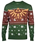 Zelda Christmas Jumper Sweater Golden Hyrule Logo 新しい 公式 メンズ Knitted Size L