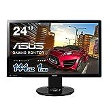 ASUS ゲーミングモニター 24型フルHD ( 144Hz / 3D Vision2対応 / 昇降・ピボット機能 / DP,HDMI,DVI / スピーカー内蔵 / VESA規格 ) VG248QE