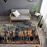 DYHOZZ Carpet Playerunknown's Battlegroundsデザイン滑り止め吸収性ソフトカーペット屋内屋外テラス - さまざまなパターン - 50 x 80 cm、60 x 90 cm、80 x 120 cm カーペット (パターン : J j, サイズ さいず : 50×80cm)