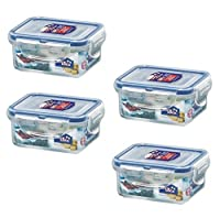LOCK & LOCK (Pack of 4) Airtight Rectangular Food Storage Container 6.08-oz/0.76-cup [並行輸入品]