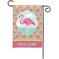 マグネットWorks Garden Flag – Pod Coastal Flamingo