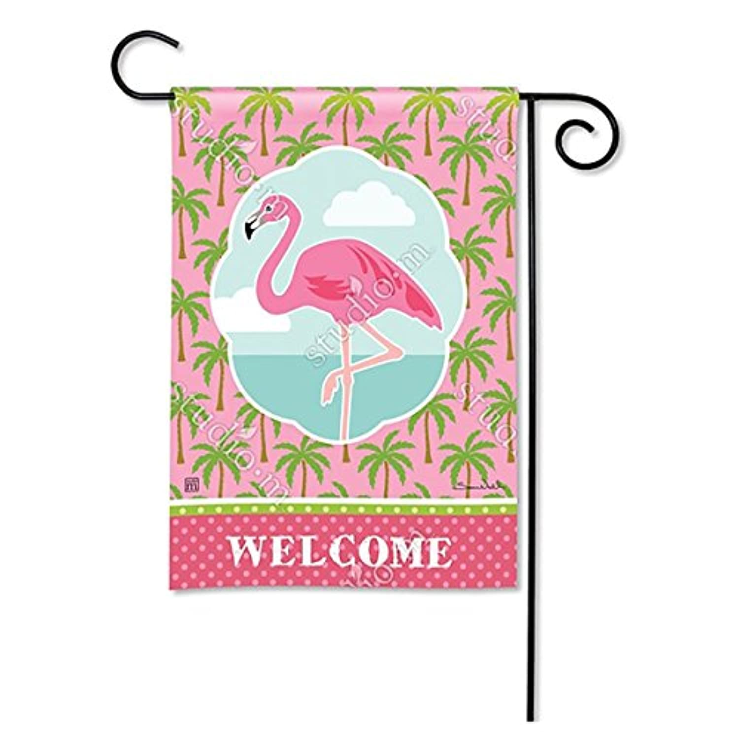 マグネットWorks Garden Flag – Pod Coastal Flamingo