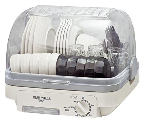 山善 食器乾燥器 (5人分) 120分 タイマー付き ホワイトグレー (自然対流式)(抗菌/防カビ) YD-180(LH)