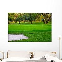 """ゴルフグリーン壁壁画by Wallmonkeys Peel and Stickグラフィックwm8894 48"""" x 32"""" GEN-10340-48"""