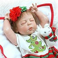 Dollshow So Truly Rebornベビー人形防水FullビニールSleeping Baby GirlモヘアRootedクリスマスギフト23インチ57 cm