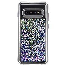 Case-Mate - WATERFALL - Samsung Galaxy S10 Glow in the Dark Liquid Glitter Case - Purple Glow