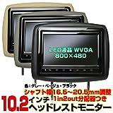 2台1セット 10.2インチワイド液晶ヘッドレストモニター/スピーカー内蔵 (黒)