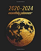 2020-2024 Monthly Planner: Gorgeous Gold Planet Five Year Monthly Schedule Agenda with 60 Months Spread View | 5 Year Organizer with To-Do's, U.S. Holidays, Inspirational Quotes, Vision Boards & Notes