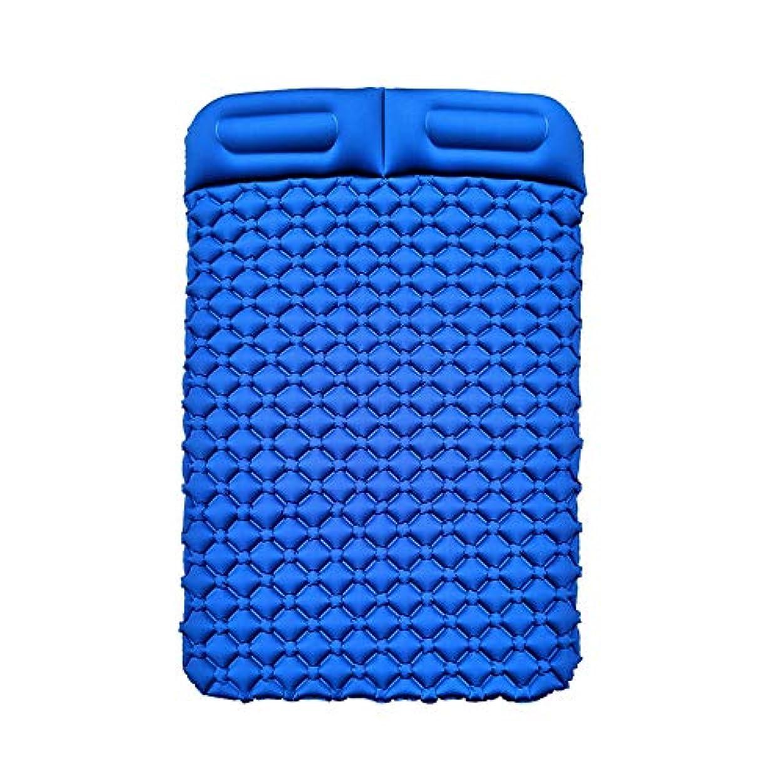より多い努力する名誉あるインフレータブルパッドTPU卵トラフ屋外テントスリーピングパッドダブル超軽量ポータブル水分パッドキャンプマットパッドランチブレイクスリーピングパッド、195×136×6センチ (Color : A)