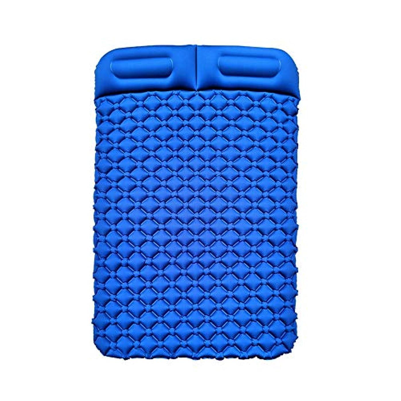 頑固なバスタブ便利さインフレータブルパッドTPU卵トラフ屋外テントスリーピングパッドダブル超軽量ポータブル水分パッドキャンプマットパッドランチブレイクスリーピングパッド、195×136×6センチ (Color : A)