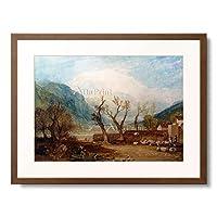 ジョゼフ・マロード・ウィリアム・ターナー Turner, Joseph Mallord William 「Mont Blanc, from the Bridge of St. Martin, Sallanches. 1807 (Based on a drawing from Turner」 額装アート作品