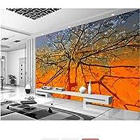 Generic 壁紙カスタム3D抽象ツリー油絵色刻まれた写真壁画壁紙寝室リビングルームの壁-200X140Cm