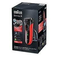 Braun Series3 3050cc クリーン&チャージシステムメンズウェット&ドライ電気シェーバー Red [並行輸入品]