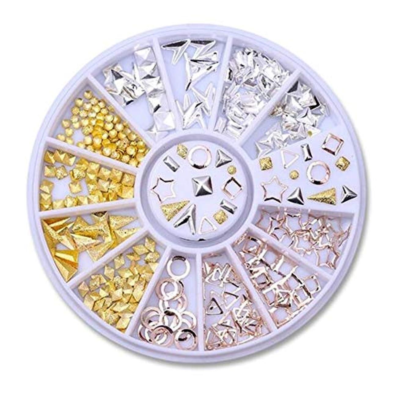 謎グッゲンハイム美術館ハイランドネイルラインストーンの小さな不規則なビーズマニキュア3Dネイルアートの装飾の輪,29