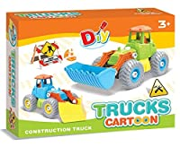 Baby Primeアセンブリおもちゃショベルトラック、Stem学習Build and Play 48Piece Set for Kids with教育take-a-part Constructionツール