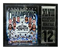 Encore Select 521–72NFLシアトルシーホークスSuper Bowl XLVIII Champions Plaque、12-inch by 15インチ