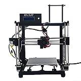 【新型】HICTOP Reprap Prusa i3 3D プリンターキット DIY アルミニウム合金 未組立 黒 3dp11-bk