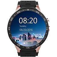 Kingwear KW88 スマートウォッチ Smart Watch ウォッチフォン Bluetooth 4.0 心拍数 歩数計 重力センサー 遠隔カメラ 着信通知 紛失防止 通話機能 防水 録音 GPS 日本語対応